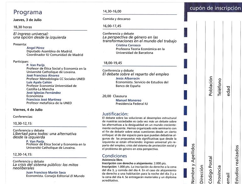 Página Programa jornadas alternativas a la desigualdad